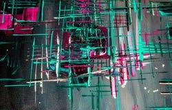 油画抽象,明亮的颜色 背景 免版税库存图片