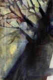 油画结构树 免版税库存照片