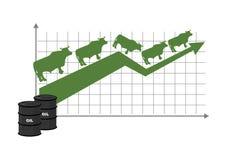 油的增长率 油引文增量 桶黑色例证油红色向量白色 皇族释放例证