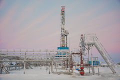 油的提取在北部领域的 免版税库存图片