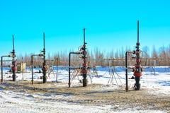油的提取在北部领域的 免版税库存照片