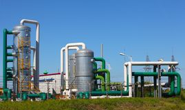 石油化学工业 免版税库存图片