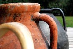 油罐古老末端罐 免版税库存图片