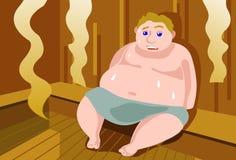 油脂蒸汽浴冒汗 向量例证