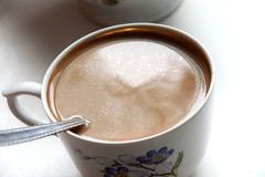 油腻的咖啡 库存图片