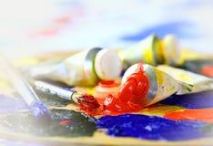 油腻的油漆 免版税库存照片