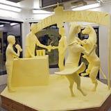 黄油雕塑 图库摄影