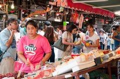 油麻地批发水果市场,香港 免版税库存图片