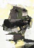 油画摘要在帆布的样式艺术品 向量例证