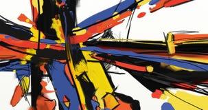 油画摘要在帆布的样式艺术品 库存例证
