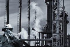 油 气体、燃料和产业 免版税库存图片