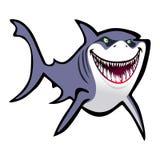 油滑的动画片鲨鱼 免版税图库摄影