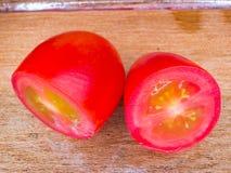 油滑的蕃茄 库存照片