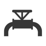 黑油水管,向量图形 库存例证