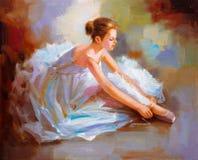 油画-芭蕾 皇族释放例证