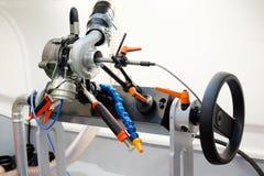 柴油turbin诊断和修理机器 库存照片