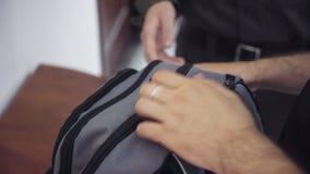 治安警卫进行工作者个人财产的检查  影视素材