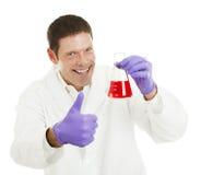 治疗有科学家 免版税库存照片