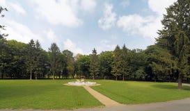 沼地在公园 免版税库存照片