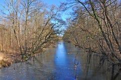 沼泽、运河和湖 免版税图库摄影