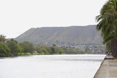 沿丙氨酸Wai运河的步行道 免版税库存图片