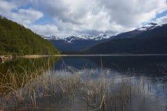 沿南方的Carretera的风景湖 免版税库存图片