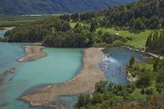 沿南方的Carretera的风景,智利 库存照片