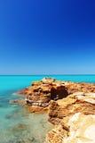 沿印度洋,澳大利亚的岩石海岸 库存照片