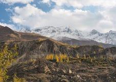 沿喀喇昆仑山脉高速公路的Mountainscape,巴基斯坦 免版税库存照片
