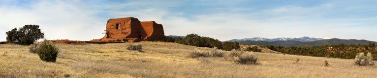 沿圣菲足迹的Pecos全国历史公园新墨西哥 免版税库存图片
