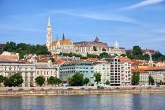 沿多瑙河在布达佩斯 库存照片