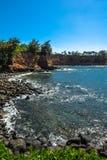 沿大岛,夏威夷的海岸 免版税库存照片