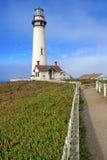 沿大瑟尔加利福尼亚的灯塔 免版税库存图片