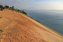 沿密歇根湖,美国的沙丘 免版税库存图片