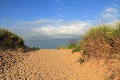 沿密歇根湖,美国的沙丘 免版税库存照片