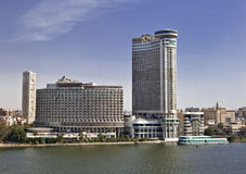 沿尼罗的大厦在开罗 库存照片