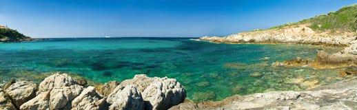 沿岸航行可西嘉岛法国 免版税图库摄影