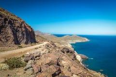沿岸航行在Cabo del加塔角,阿尔梅里雅,西班牙 库存图片