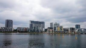 沿帕拉马塔河@罗得岛,悉尼的居民住房 免版税库存照片