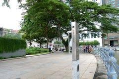 沿新加坡河的周年纪念步行 免版税库存图片