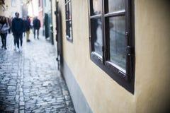 沿是属于的城堡金黄的弗朗兹有这里他的家家运输路线居住的kafka,一旦布拉格姐妹建议了 库存图片
