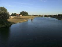 沿水坝河 库存图片