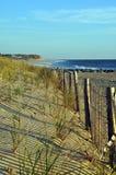 沿沙丘的海滩篱芭 库存照片
