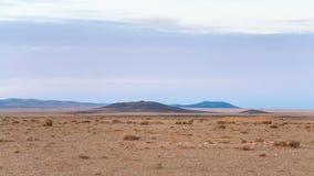 沿沙漠高速公路路15的荒原在约旦 库存照片