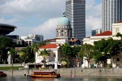 沿河新加坡视图 免版税库存图片