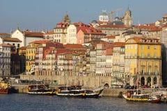 沿河的全景。波尔图。葡萄牙 库存照片