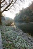 沿河Severn的步行 免版税库存照片