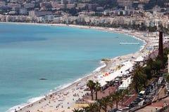 沿法国海滨的散步des Anglais,尼斯 免版税库存图片