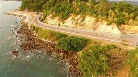 沿泰国的东部海岸的意想不到的路线如被看见从Nang Phaya小山观点 影视素材