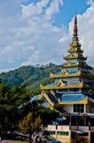 沿泰国缅甸边界位于的家。 库存照片